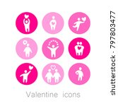 icons with valentine's day... | Shutterstock .eps vector #797803477