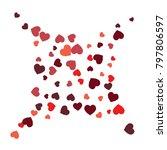 vector confetti background... | Shutterstock .eps vector #797806597