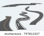 road with white stripes on a... | Shutterstock .eps vector #797812327