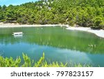 Small photo of landscape of Beletsi lake near to Parnes mountain Greece