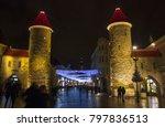 tallinn  estonia   january 3 ... | Shutterstock . vector #797836513