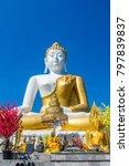 big bhuddha in wat phra that... | Shutterstock . vector #797839837