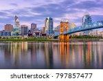 cincinnati  ohio  usa downtown...   Shutterstock . vector #797857477
