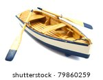 Wooden Boat With Paddles...