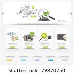 web design carousel elements... | Shutterstock .eps vector #79870750