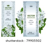 two vertical banners with white ... | Shutterstock .eps vector #79905502