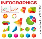 colorful infographic vector... | Shutterstock .eps vector #79927453