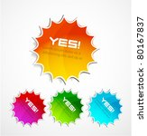vector new labels | Shutterstock .eps vector #80167837