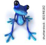 blue frog | Shutterstock . vector #80198182