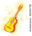 abstract guitar sketchy a fun... | Shutterstock .eps vector #80200738