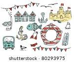 summer doodles | Shutterstock .eps vector #80293975