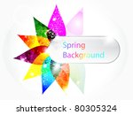 abstract colorful floral spring ... | Shutterstock .eps vector #80305324