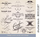 vector set. calligraphic design ... | Shutterstock .eps vector #80313187