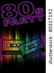 retro party background   retro... | Shutterstock .eps vector #80317192