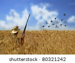 Hunting ducks - stock photo