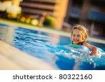Pretty Little Girl Swimming In...