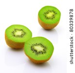 image of sliced kiwi with... | Shutterstock . vector #80339878