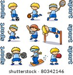 big sports icons set | Shutterstock .eps vector #80342146