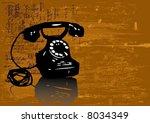 grungy telephone vector | Shutterstock .eps vector #8034349