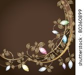 diamond and gold decoration.... | Shutterstock .eps vector #80360899