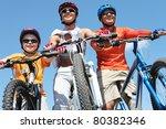 portrait of happy family on...   Shutterstock . vector #80382346