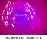 abstract futuristic composition ... | Shutterstock .eps vector #80384071
