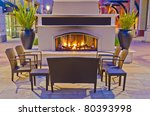 A Generic Outdoor Fireplace At...