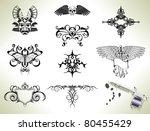 series set of tattoo flash... | Shutterstock . vector #80455429