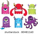 monsters | Shutterstock .eps vector #80481160