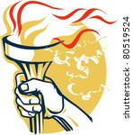 victory torch | Shutterstock .eps vector #80519524