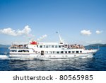 Little ship-cruise - stock photo