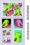 stamps collection | Shutterstock .eps vector #80568088