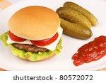 mini cheese burger with tomato