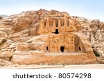 temple in petra. made by... | Shutterstock . vector #80574298