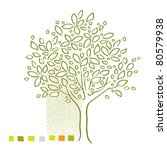 tree icon   simple linear...   Shutterstock . vector #80579938