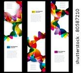 abstract vertical banner with... | Shutterstock .eps vector #80587210