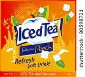 iced tea label elements | Shutterstock .eps vector #80598721