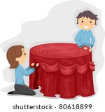 banquet,banquet attendant,career,cartoon,cartoon people,clip art,clipart,cutout,decorate,decoration,drawing,eps,female,girl,guy
