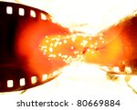 film strip burning - stock photo