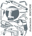 drill collection | Shutterstock .eps vector #80692408