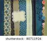 gypsy background with patterned ...   Shutterstock .eps vector #80711926