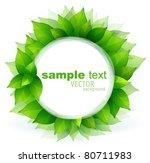 fresh green leaves vector... | Shutterstock .eps vector #80711983