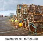 A Selection Of Lobster Pots On...
