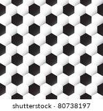 seamless soccer ball  texture | Shutterstock .eps vector #80738197
