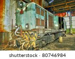 old train  gold mine ore cars... | Shutterstock . vector #80746984