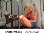 sexy cowgirl | Shutterstock . vector #80788960