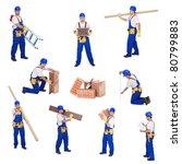 handyman or worker involved in... | Shutterstock . vector #80799883