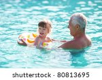 grandfather and granddaughter... | Shutterstock . vector #80813695