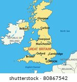 map of the united kingdom of... | Shutterstock .eps vector #80867542