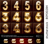 extra beveled gold font plus... | Shutterstock .eps vector #80930284